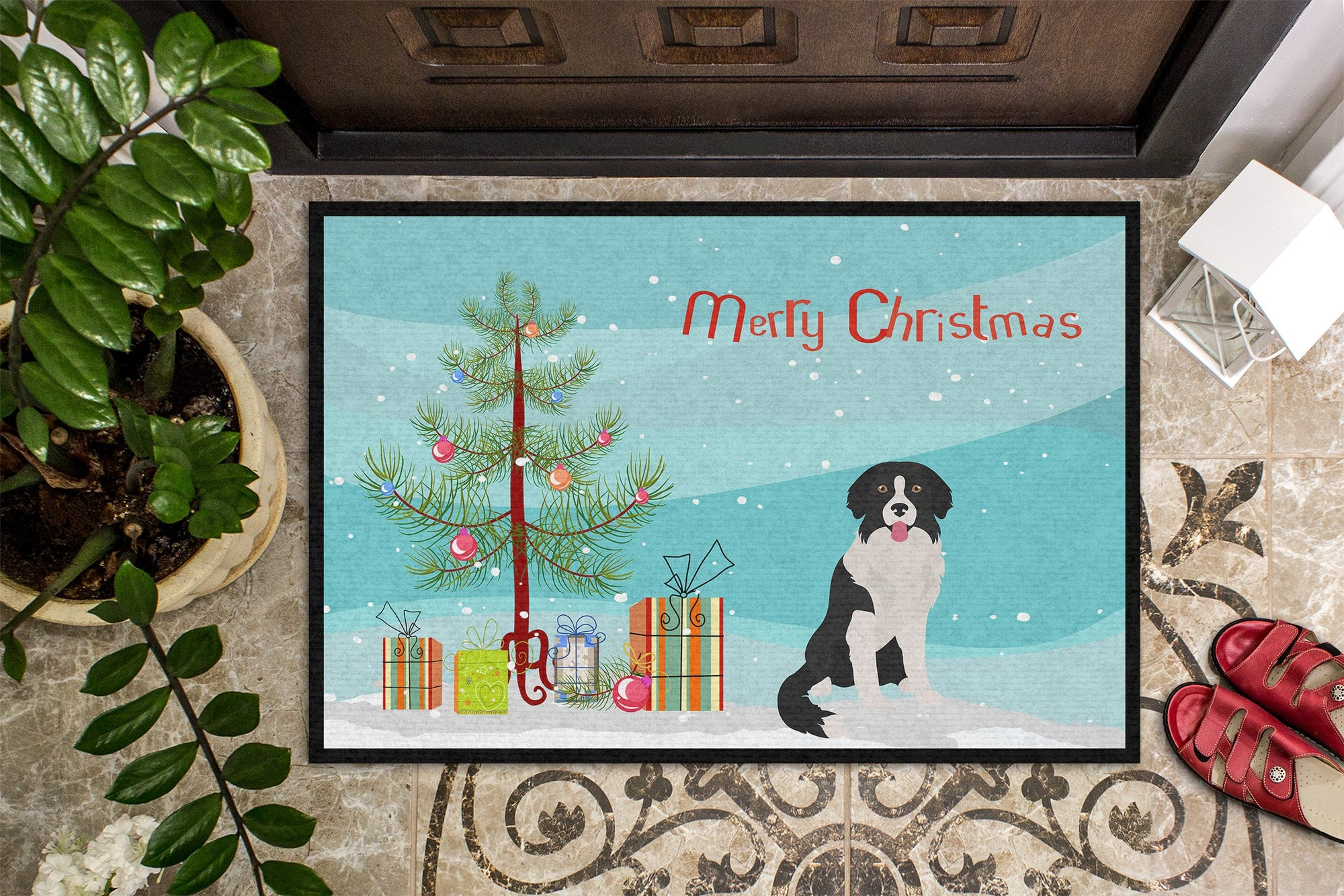 Borador Christmas Tree Indoor or Outdoor Mat 24x36 CK3887JMAT by Caroline's Treasures