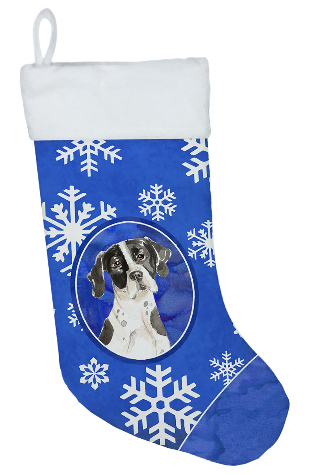 English Pointer Winter Snowflakes Christmas Stocking CK3918CS by Caroline's Treasures