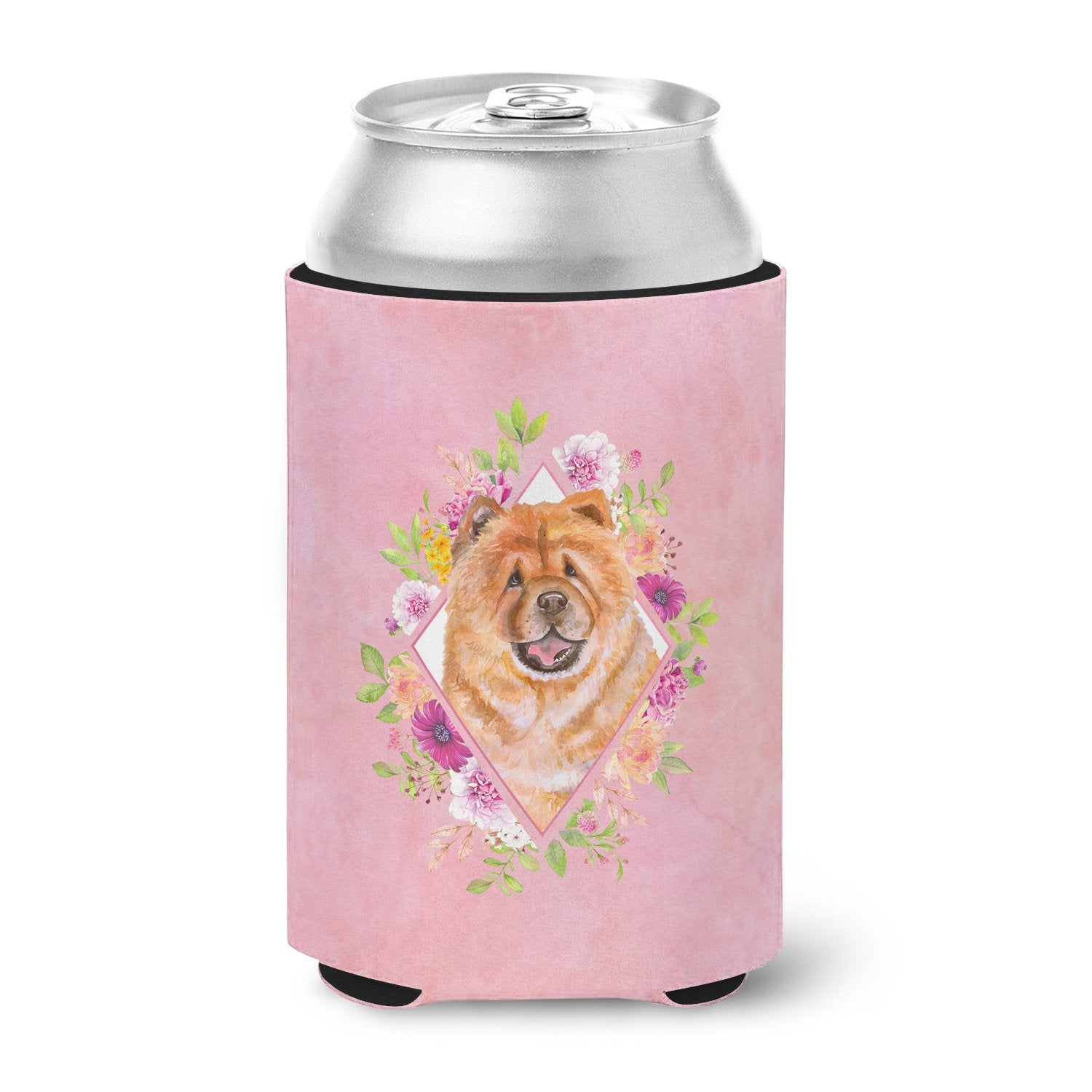 Chow Chow #1 Pink Flowers Can or Bottle Hugger CK4131CC by Caroline's Treasures