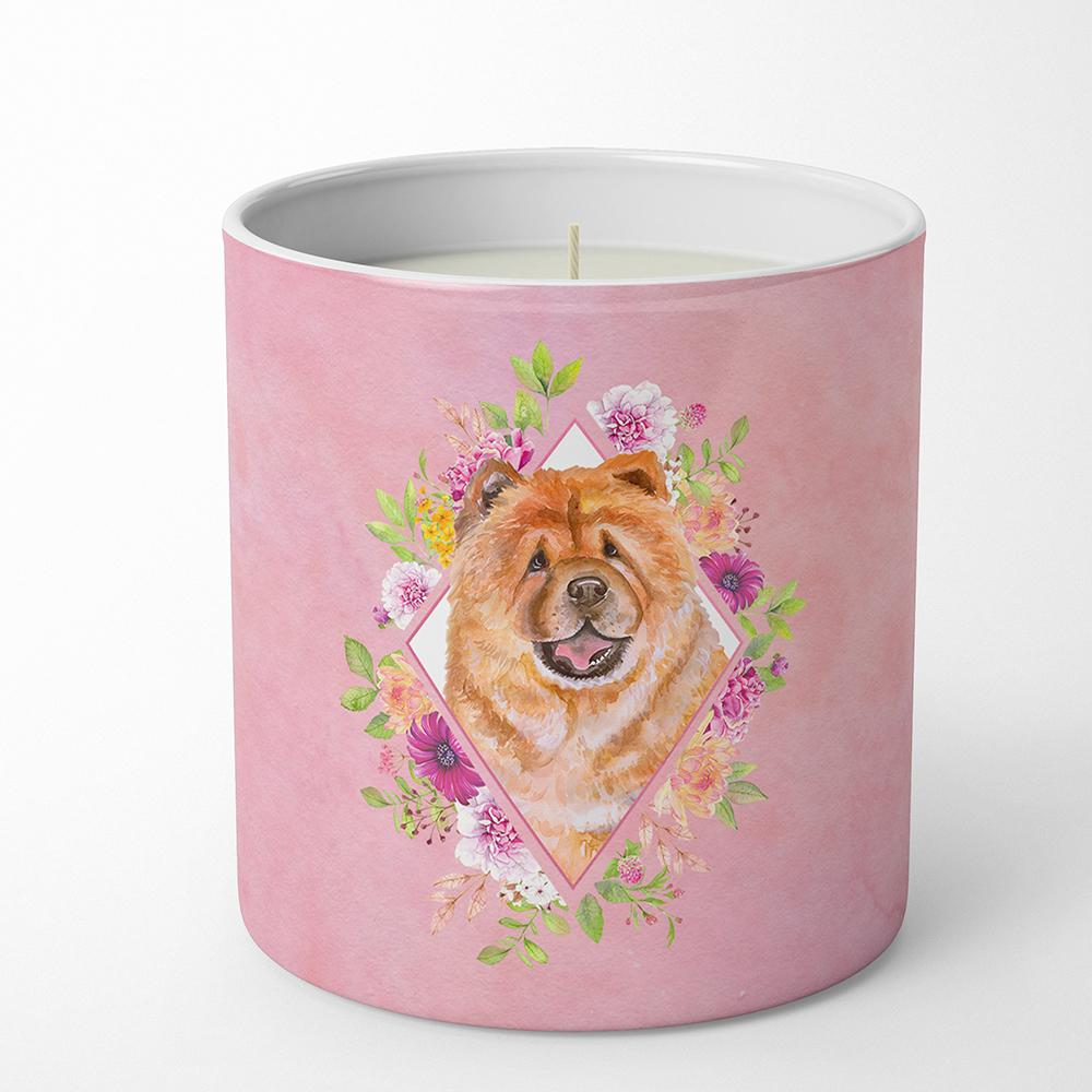 Chow Chow #1 Pink Flowers 10 oz Decorative Soy Candle CK4131CDL by Caroline's Treasures