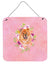 Buy this Chow Chow #1 Pink Flowers Wall or Door Hanging Prints CK4131DS66
