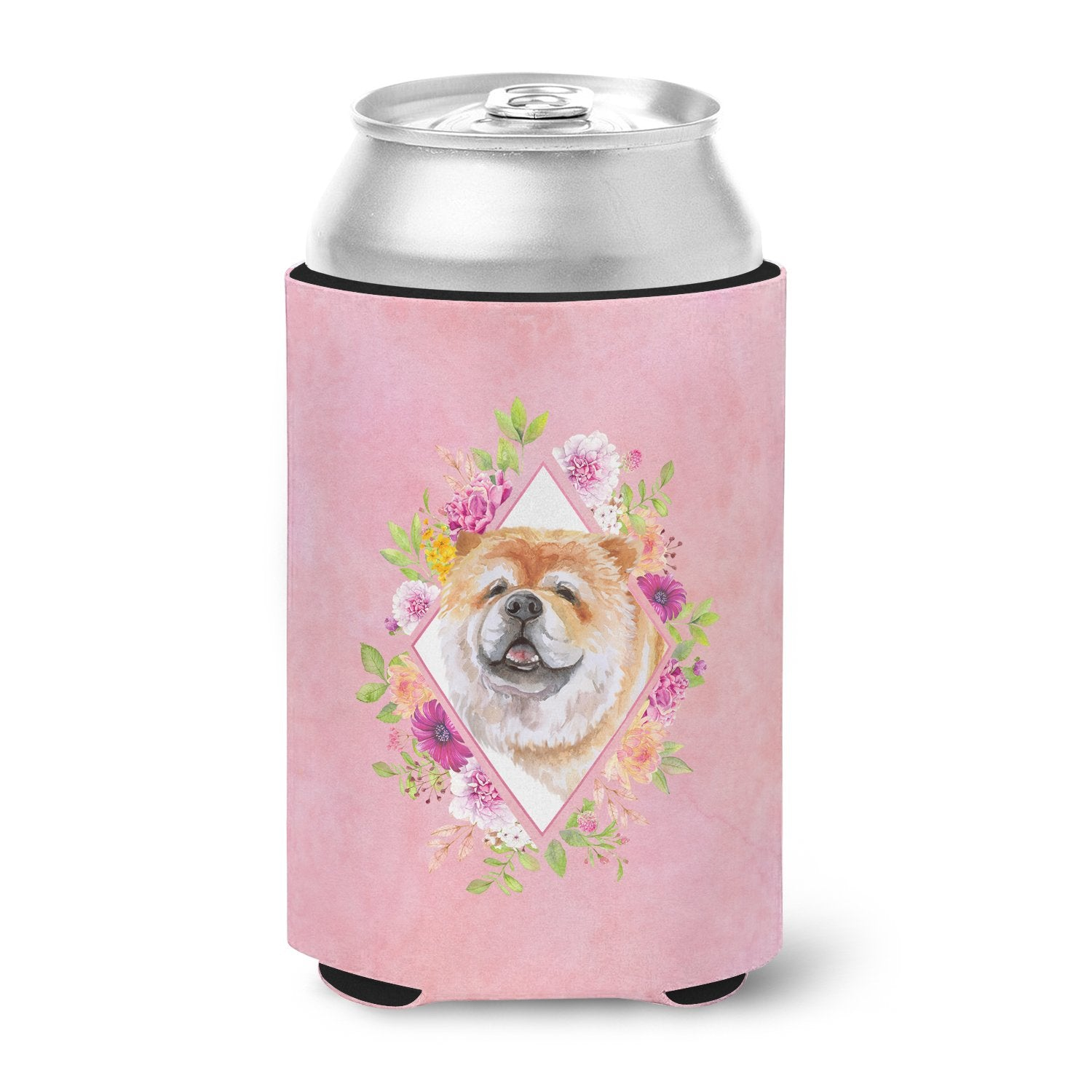 Chow Chow #2 Pink Flowers Can or Bottle Hugger CK4132CC by Caroline's Treasures