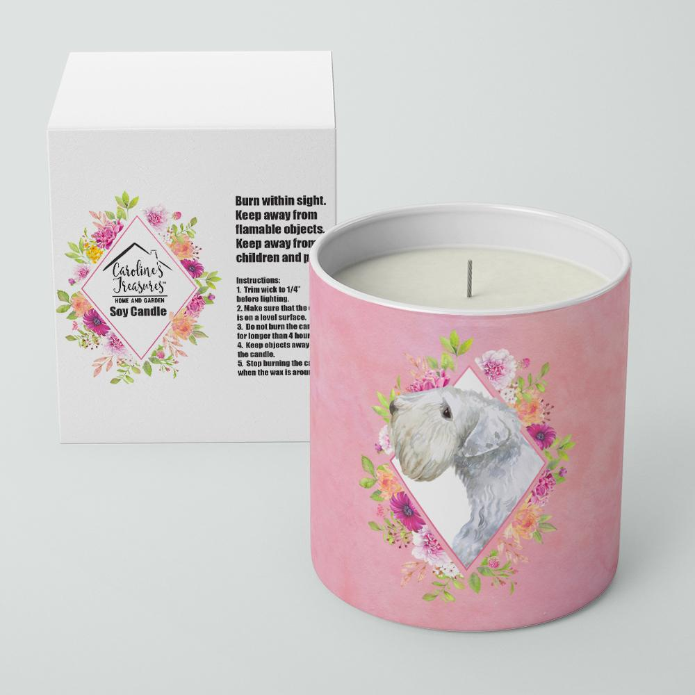Sealyham Terrier Pink Flowers 10 oz Decorative Soy Candle CK4180CDL by Caroline's Treasures