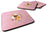 Buy this Set of 4 Brabant Griffon Pink Flowers Foam Coasters Set of 4 CK4185FC