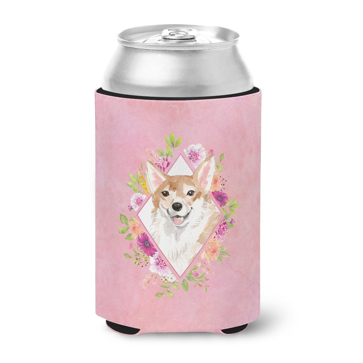 Buy this Corgi Pink Flowers Can or Bottle Hugger CK4243CC