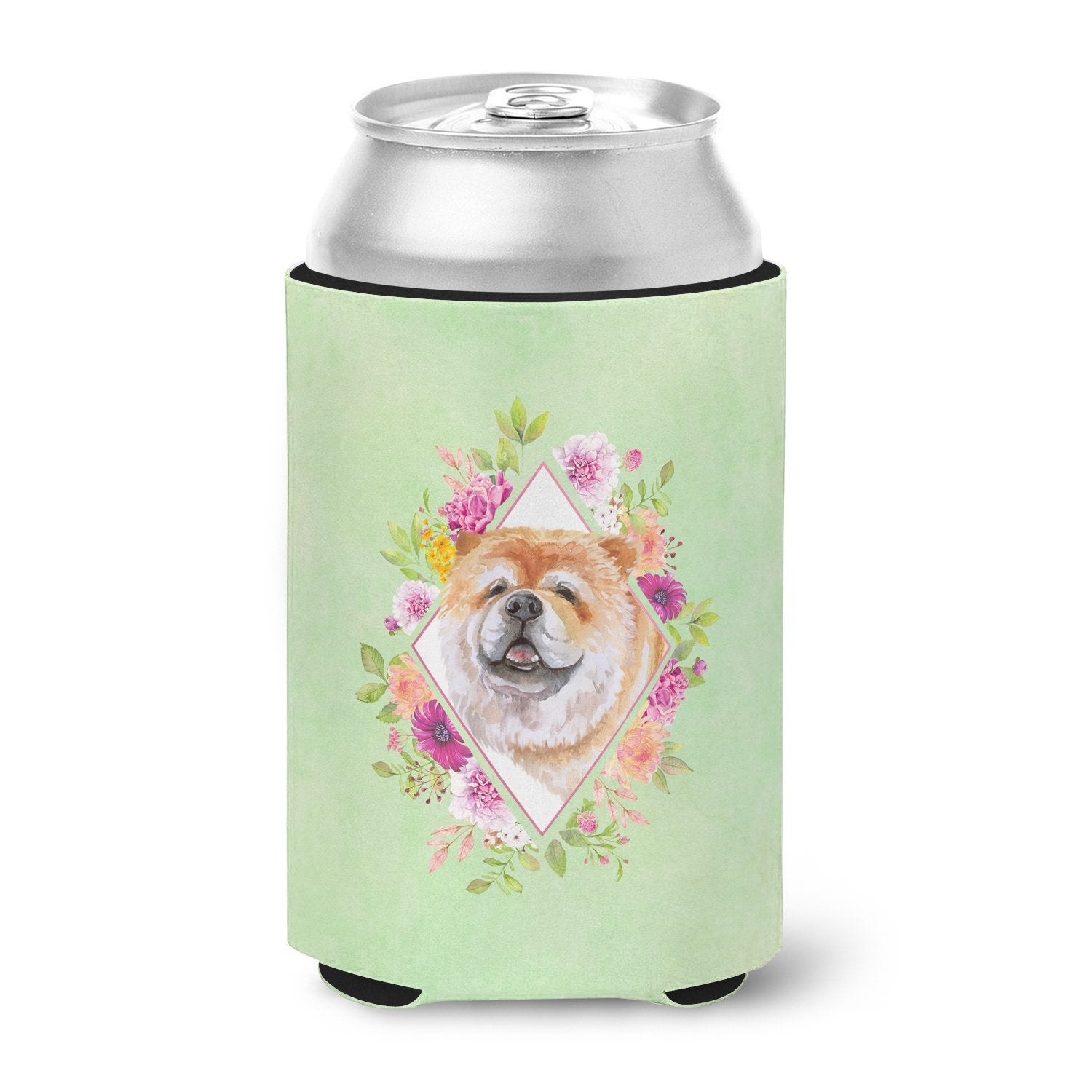 Buy this Chow Chow #2 Green Flowers Can or Bottle Hugger CK4292CC