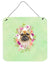 Buy this Fawn French Bulldog Green Flowers Wall or Door Hanging Prints CK4304DS66