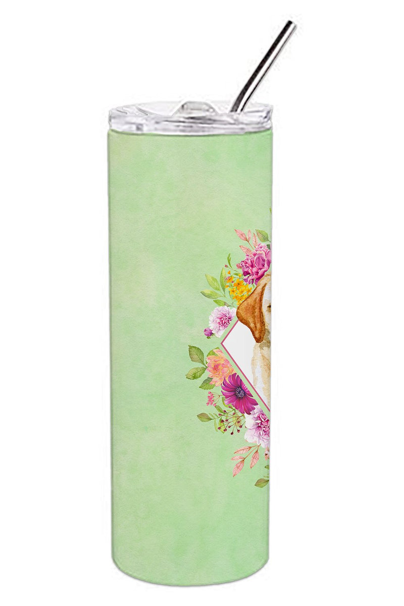Buy this Golden Retriever Green Flowers Double Walled Stainless Steel 20 oz Skinny Tumbler CK4309TBL20