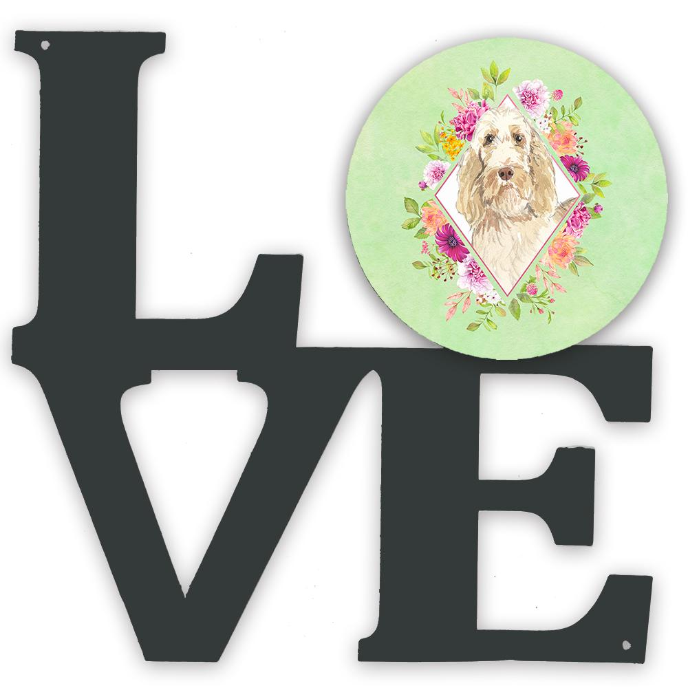 Spinone Italiano Green Flowers Metal Wall Artwork LOVE CK4369WALV by Caroline's Treasures