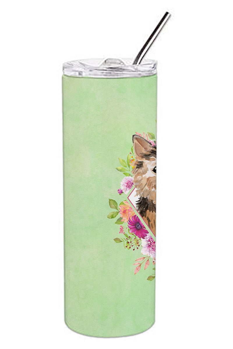 Buy this Norwich Terrier Green Flowers Double Walled Stainless Steel 20 oz Skinny Tumbler CK4380TBL20