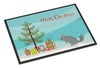 Foggy Chinchilla Merry Christmas Indoor or Outdoor Mat 24x36 CK4434JMAT by Caroline's Treasures