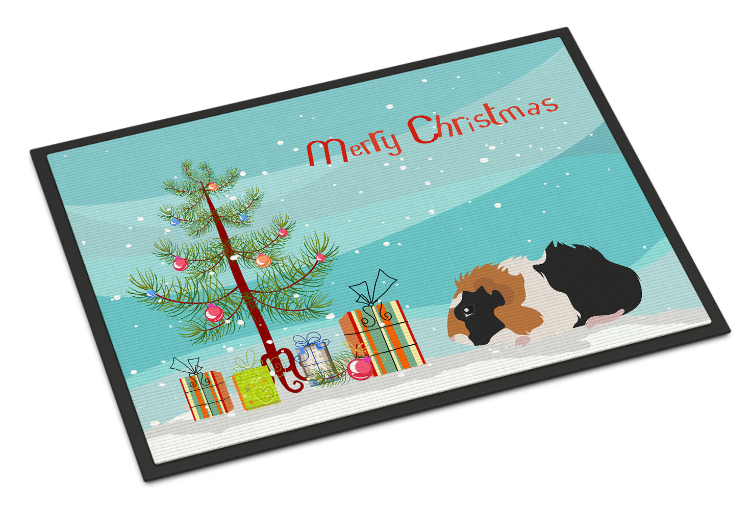 Abyssinian Guinea Pig Merry Christmas Indoor or Outdoor Mat 18x27 CK4438MAT by Caroline's Treasures