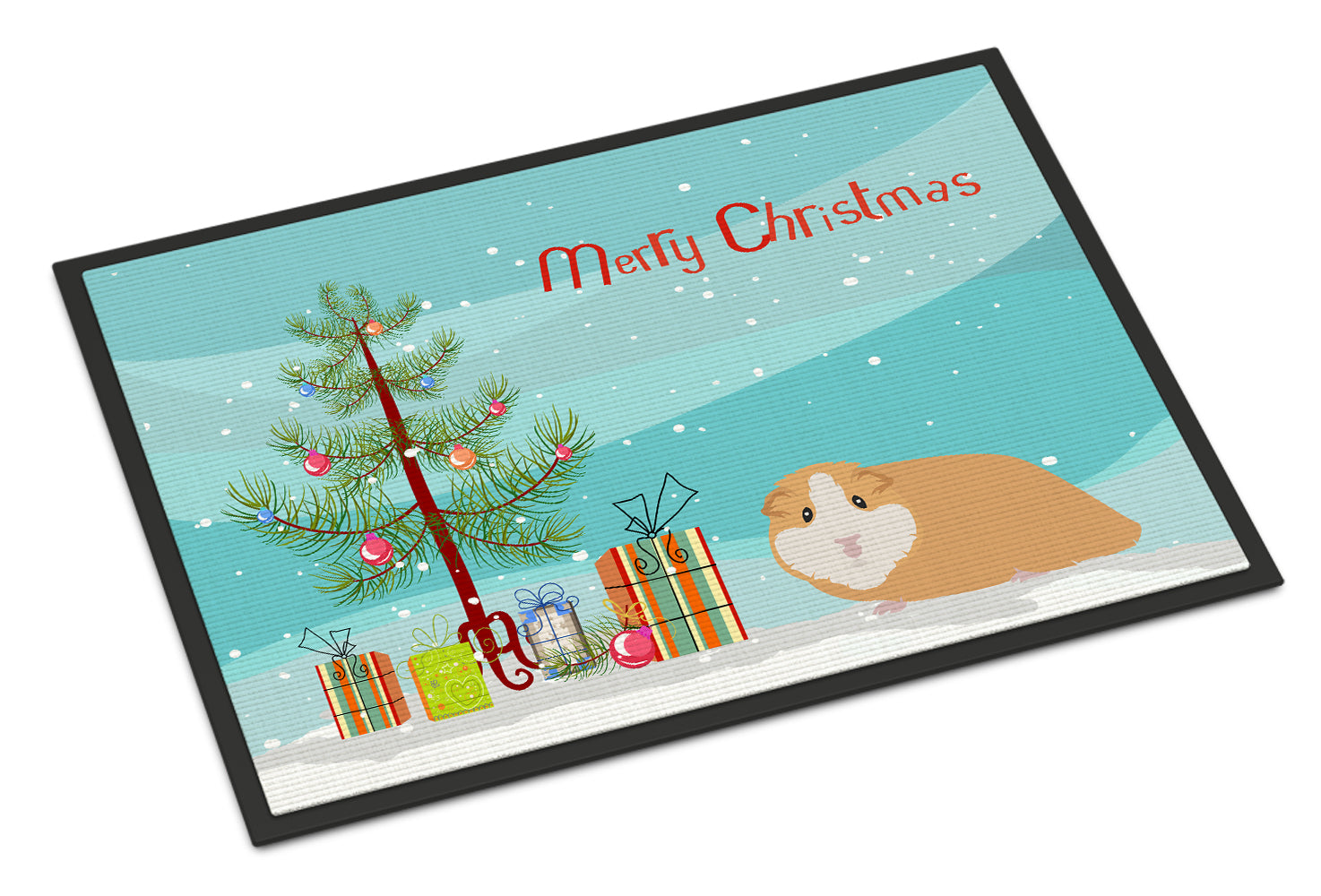 American Guinea Pig Merry Christmas Indoor or Outdoor Mat 18x27 CK4439MAT by Caroline's Treasures