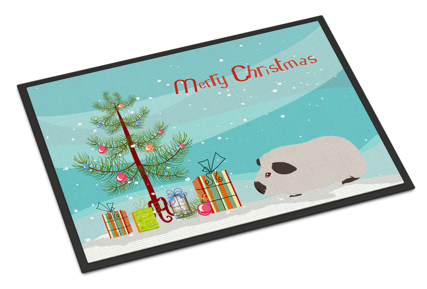 Himalayan Guinea Pig Merry Christmas Indoor or Outdoor Mat 18x27 CK4441MAT by Caroline's Treasures