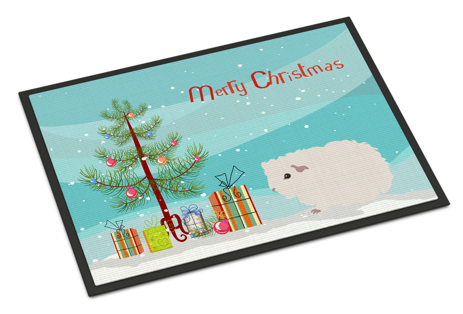 Merino Guinea Pig Merry Christmas Indoor or Outdoor Mat 18x27 CK4442MAT by Caroline's Treasures
