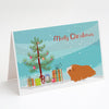 Buy this Peruvian Guinea Pig Merry Christmas Greeting Cards and Envelopes Pack of 8
