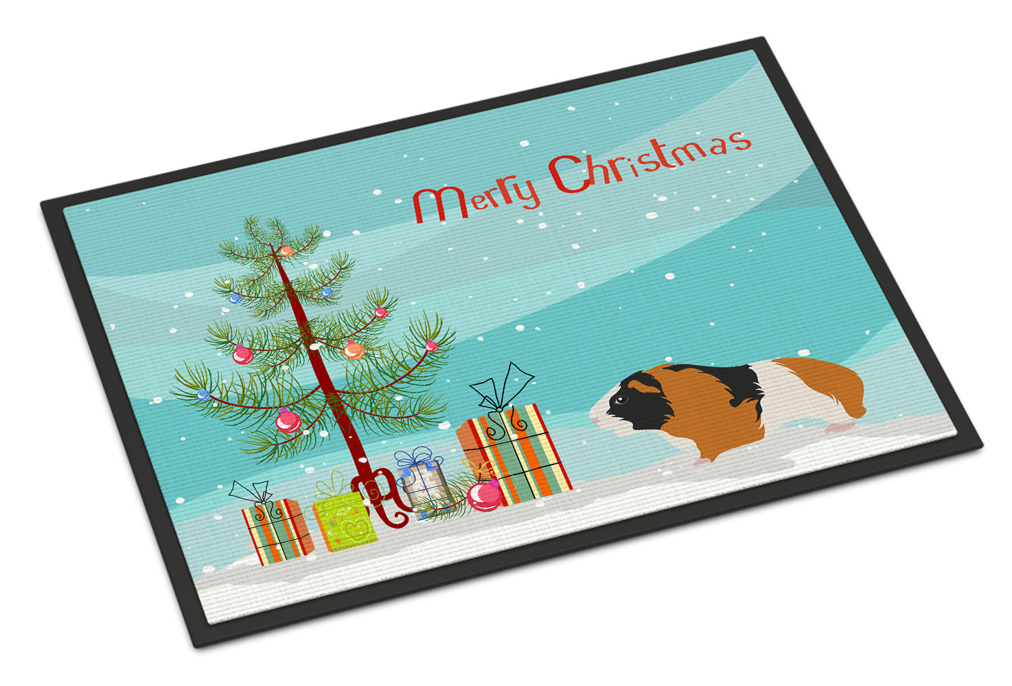 Rex Guinea Pig Merry Christmas Indoor or Outdoor Mat 18x27 CK4444MAT by Caroline's Treasures