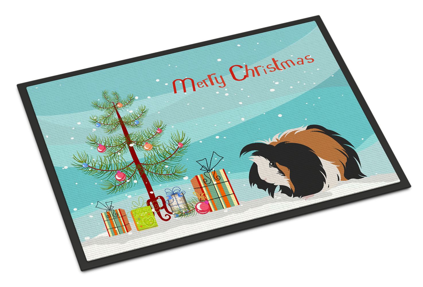 Sheba Guinea Pig Merry Christmas Indoor or Outdoor Mat 18x27 CK4445MAT by Caroline's Treasures