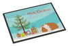 Texel Guinea Pig Merry Christmas Indoor or Outdoor Mat 24x36 CK4449JMAT by Caroline's Treasures