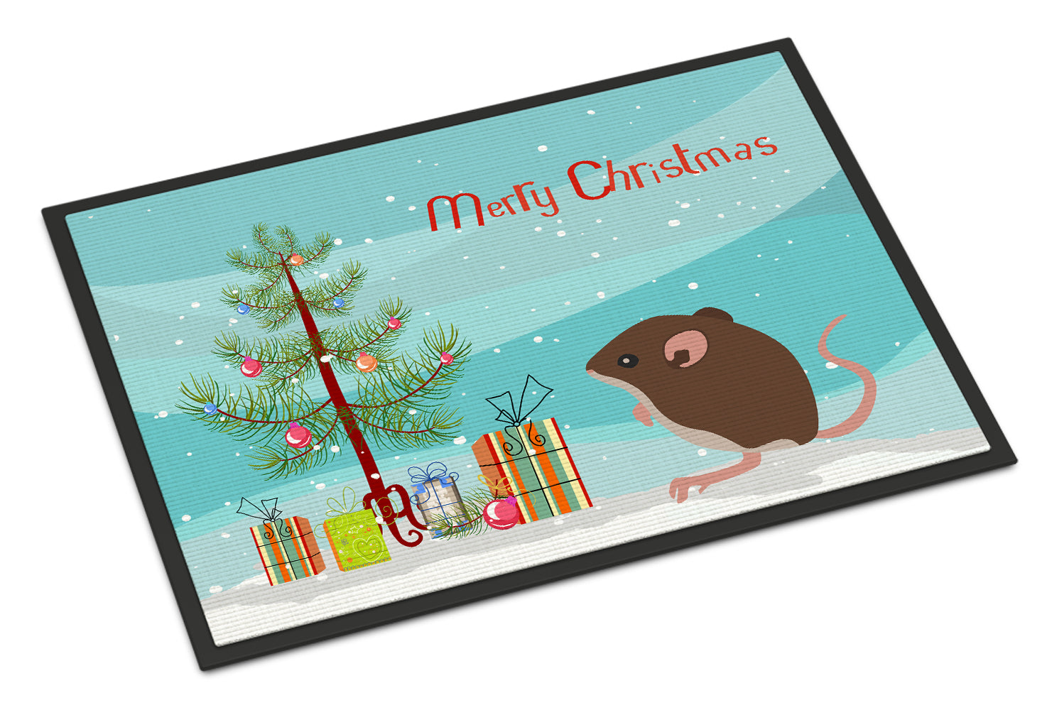 Baby Mouse Merry Christmas Indoor or Outdoor Mat 18x27 CK4460MAT by Caroline's Treasures