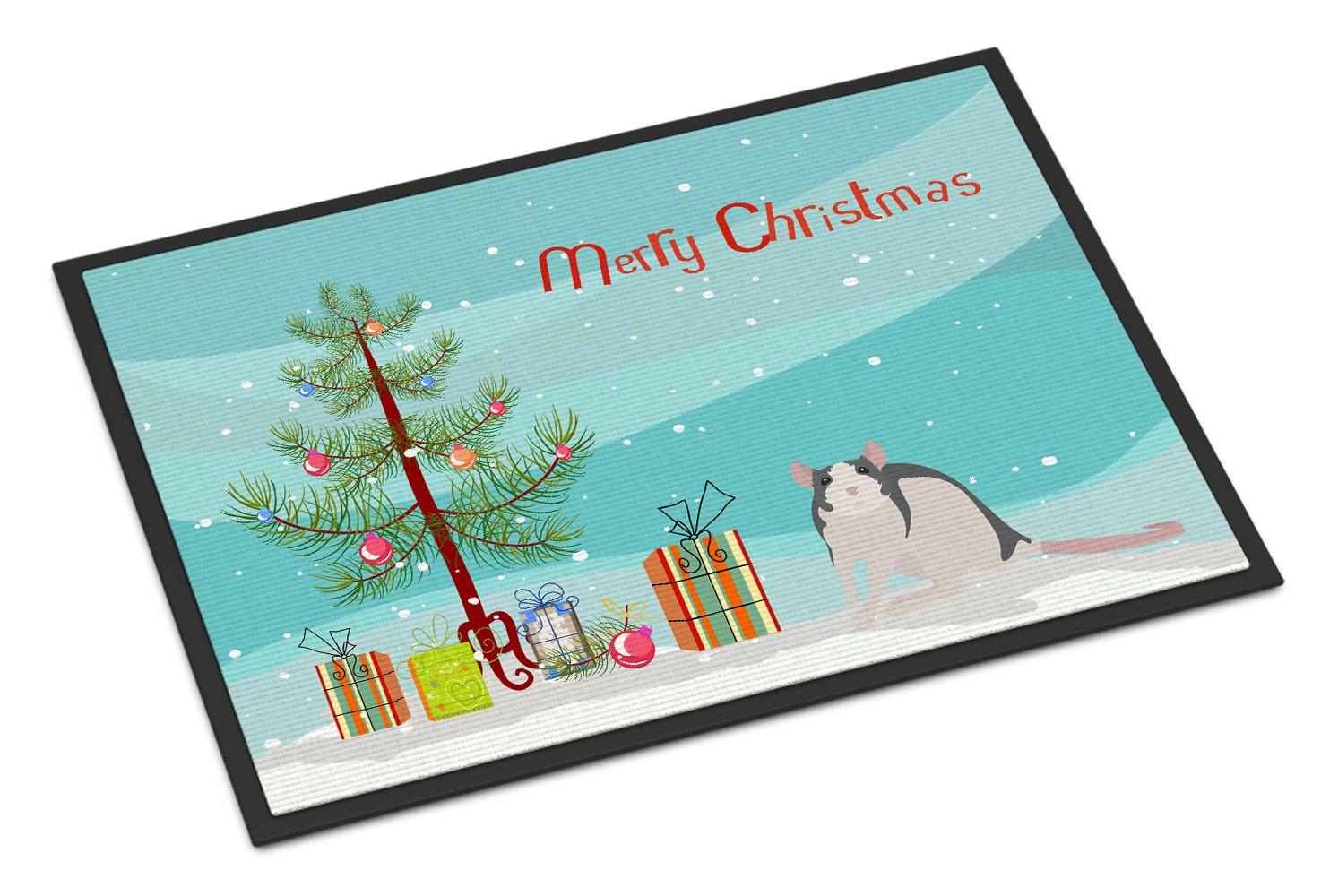 Husky Rat Merry Christmas Indoor or Outdoor Mat 24x36 CK4473JMAT by Caroline's Treasures