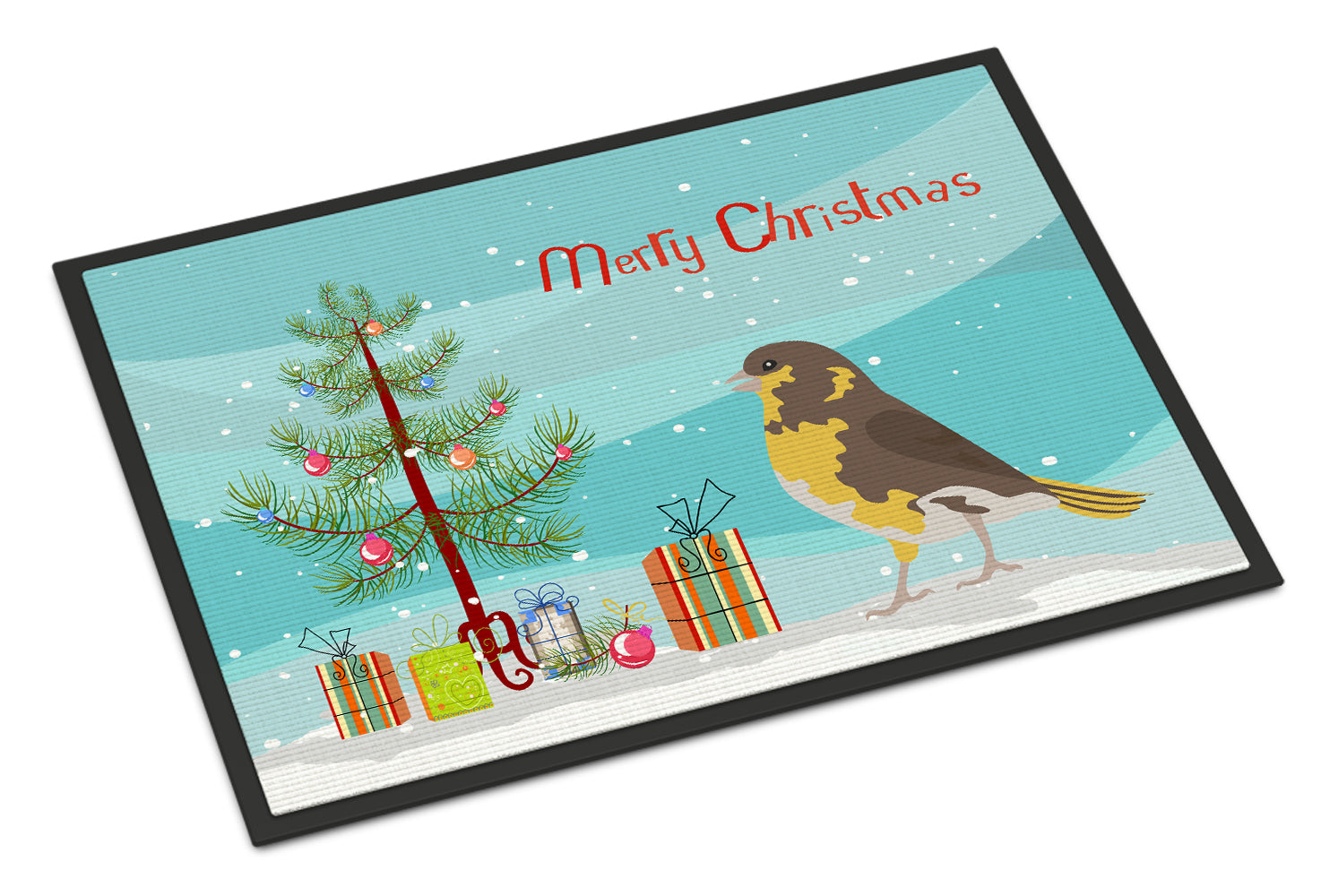 Spanish Canary Merry Christmas Indoor or Outdoor Mat 18x27 CK4485MAT by Caroline's Treasures
