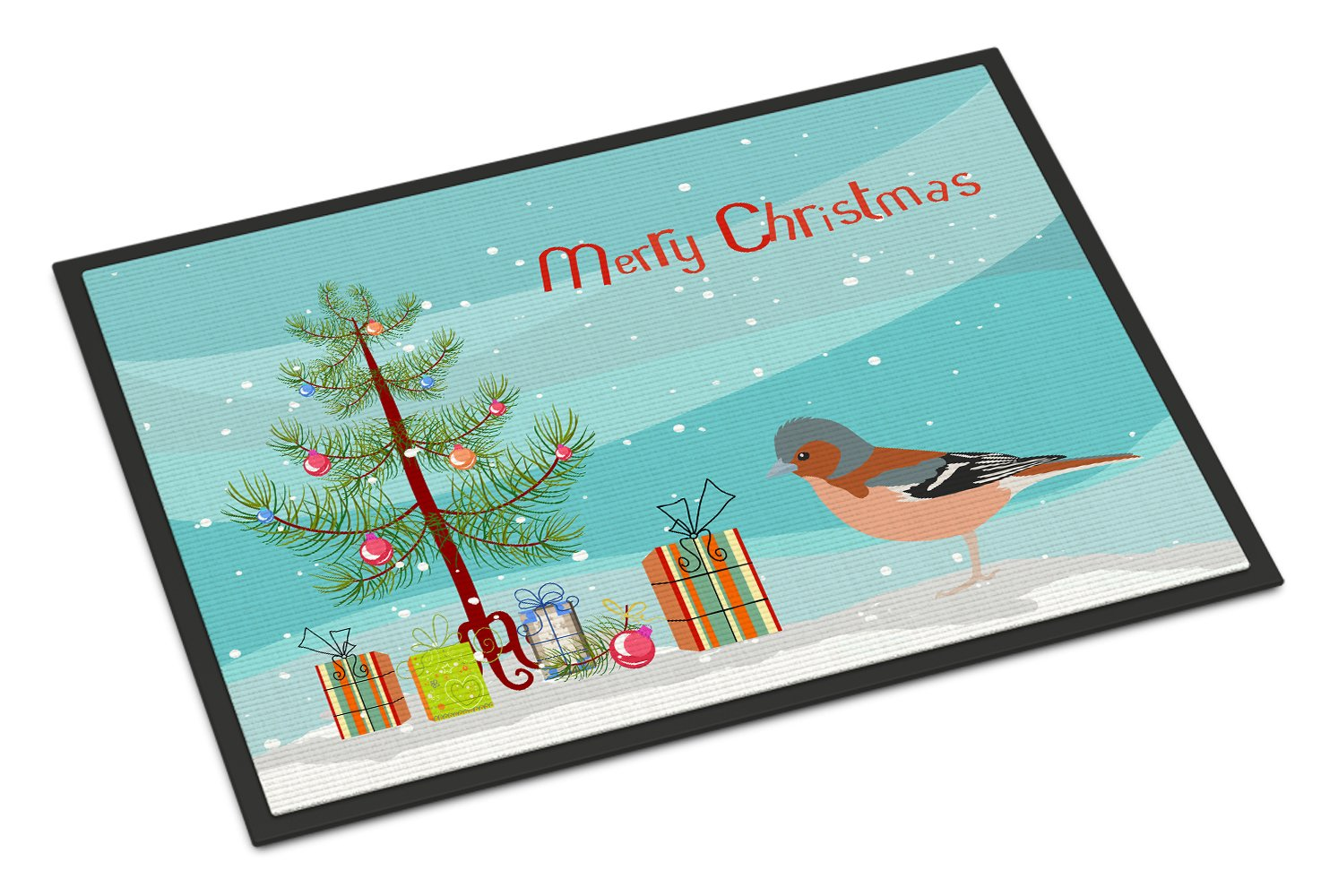 Finch Merry Christmas Indoor or Outdoor Mat 24x36 CK4488JMAT by Caroline's Treasures