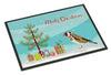 Gold Finch Merry Christmas Indoor or Outdoor Mat 18x27 CK4489MAT by Caroline's Treasures