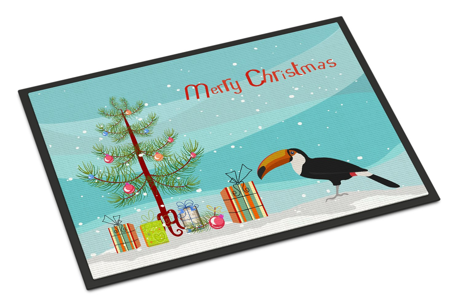 Toucan Merry Christmas Indoor or Outdoor Mat 24x36 CK4494JMAT by Caroline's Treasures