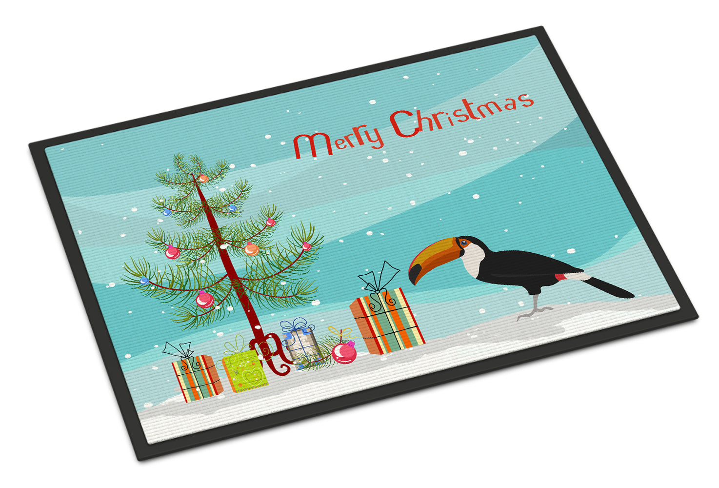 Toucan Merry Christmas Indoor or Outdoor Mat 18x27 CK4494MAT by Caroline's Treasures