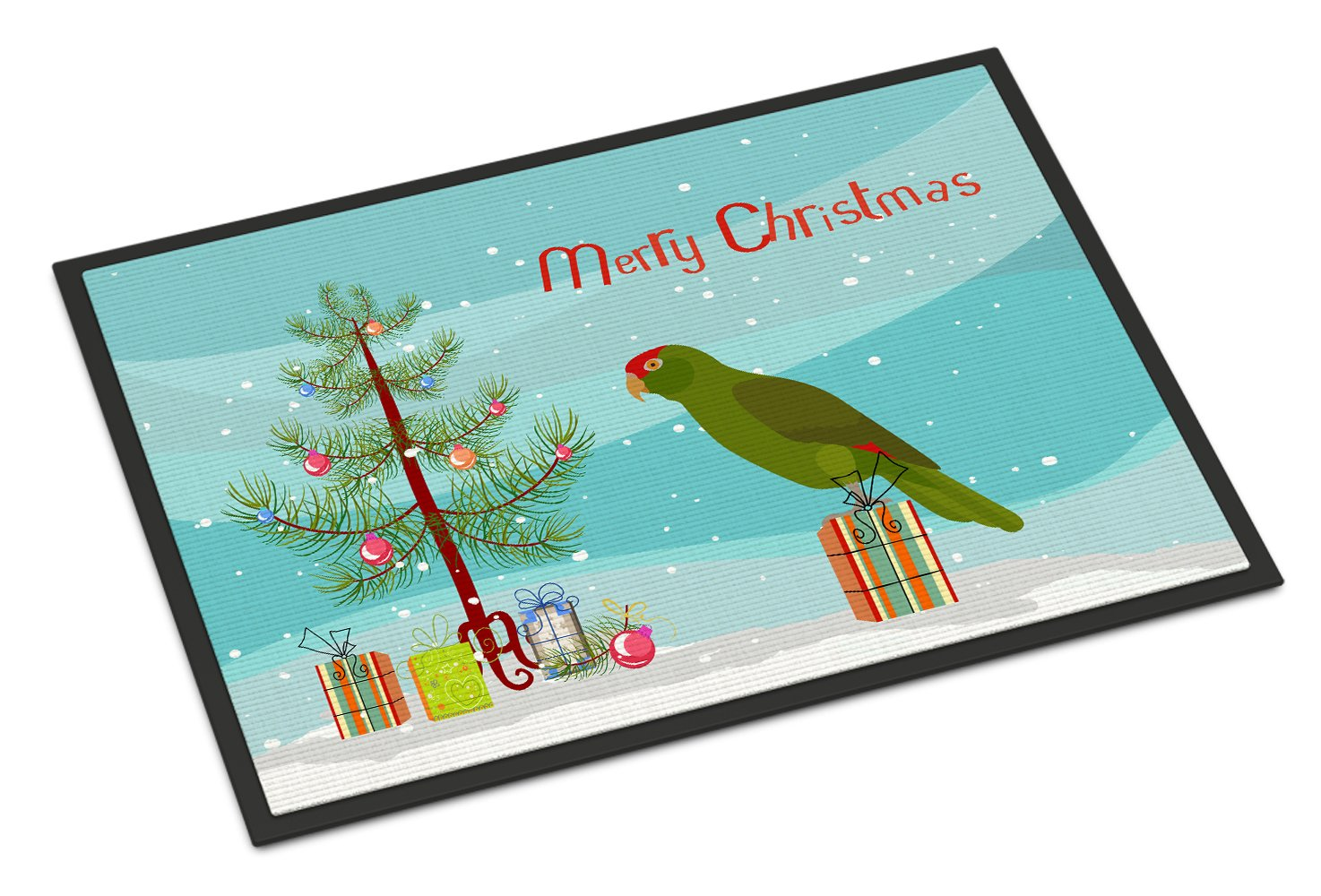 Amazon Parrot Merry Christmas Indoor or Outdoor Mat 24x36 CK4496JMAT by Caroline's Treasures