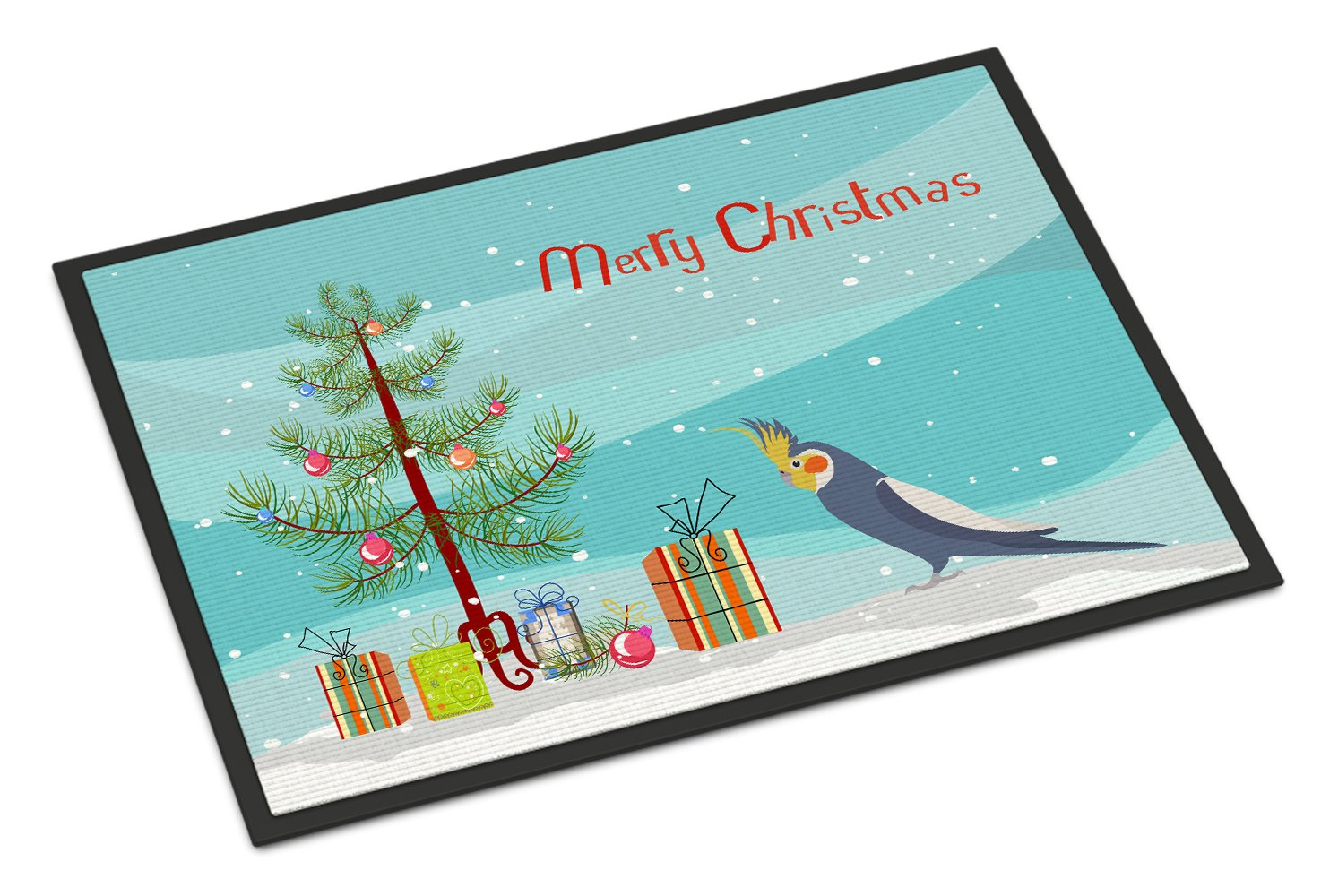 Cockatiel Merry Christmas Indoor or Outdoor Mat 24x36 CK4498JMAT by Caroline's Treasures