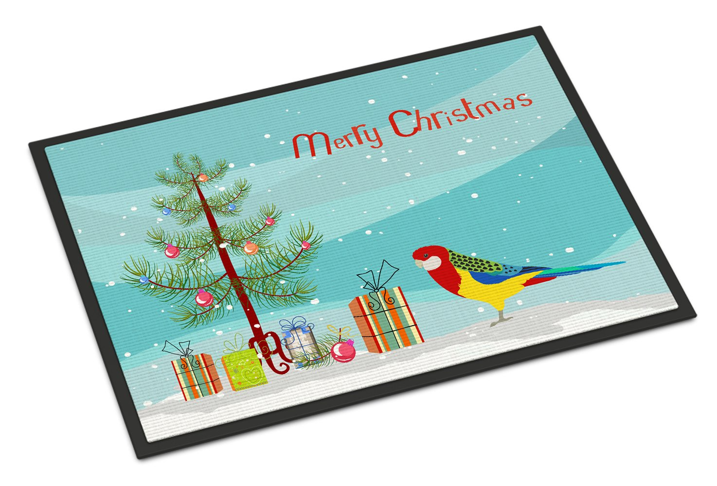 Rosella Merry Christmas Indoor or Outdoor Mat 24x36 CK4503JMAT by Caroline's Treasures