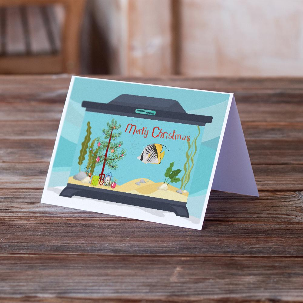 Buy this Butterfly Fish Merry Christmas Greeting Cards and Envelopes Pack of 8
