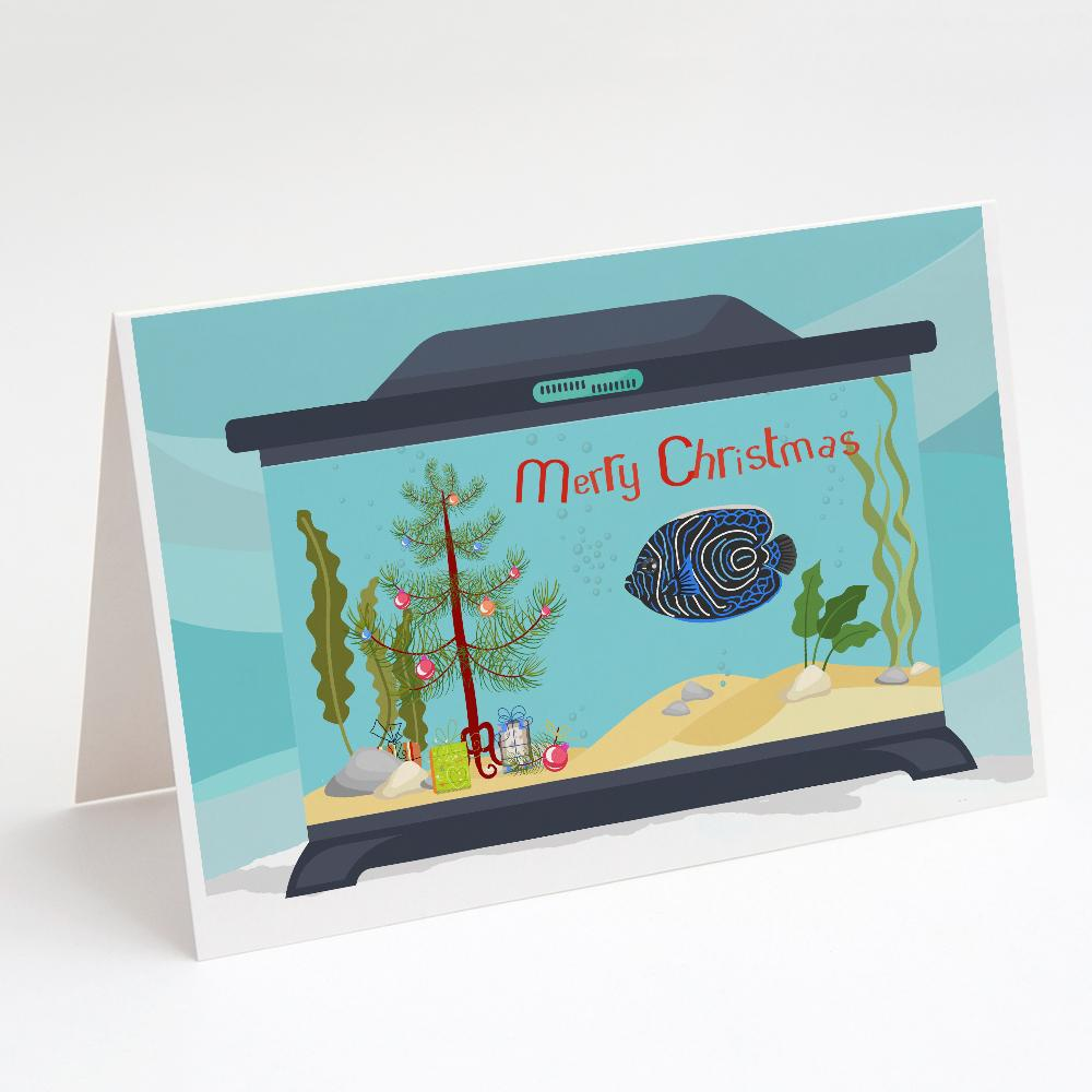 Buy this Emperor Angelfish Merry Christmas Greeting Cards and Envelopes Pack of 8