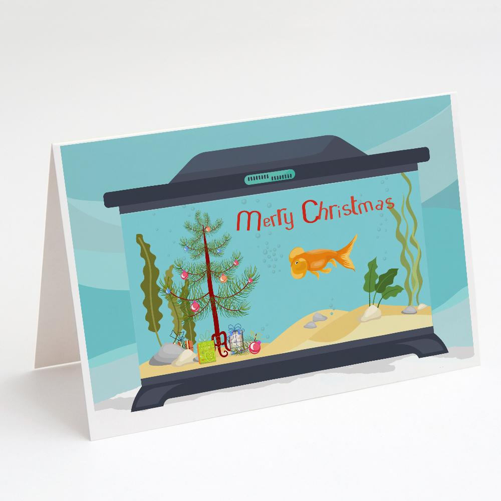 Buy this Bubble Eyed Goldfish Merry Christmas Greeting Cards and Envelopes Pack of 8