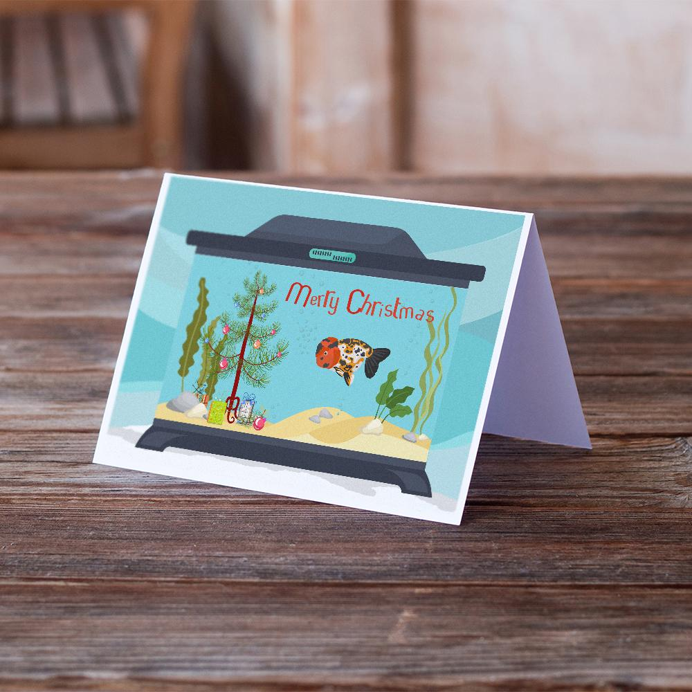 Buy this Ranchu Goldfish Merry Christmas Greeting Cards and Envelopes Pack of 8