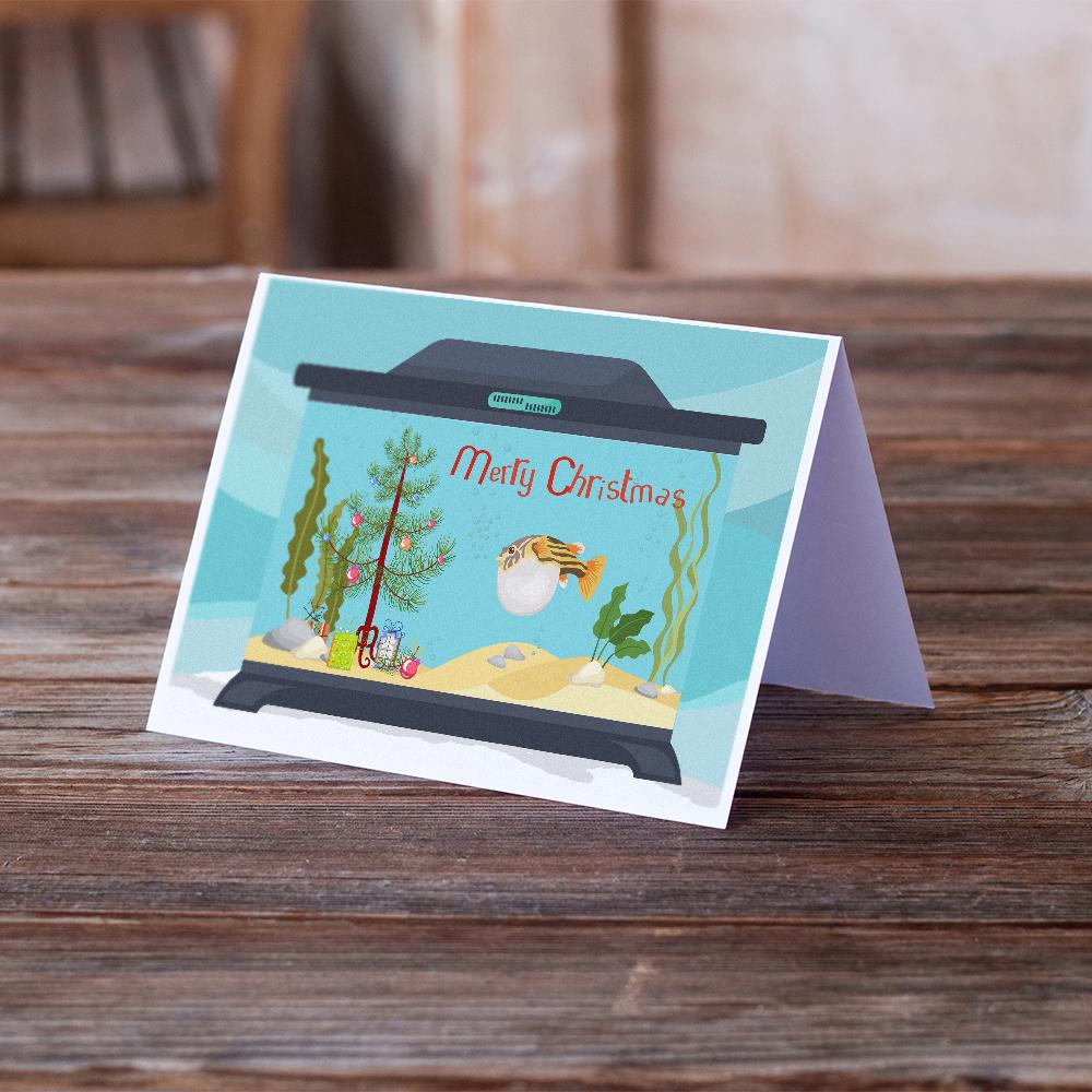 Buy this Puffer Fish Merry Christmas Greeting Cards and Envelopes Pack of 8