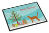 Red Abyssinian Cat Merry Christmas Indoor or Outdoor Mat 24x36 CK4545JMAT by Caroline's Treasures