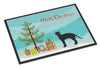 Black German Rex Cat Merry Christmas Indoor or Outdoor Mat 24x36 CK4626JMAT by Caroline's Treasures