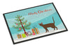 Havana Brown Cat Merry Christmas Indoor or Outdoor Mat 24x36 CK4629JMAT by Caroline's Treasures