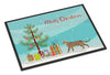 Serengeti Cat Merry Christmas Indoor or Outdoor Mat 18x27 CK4709MAT by Caroline's Treasures