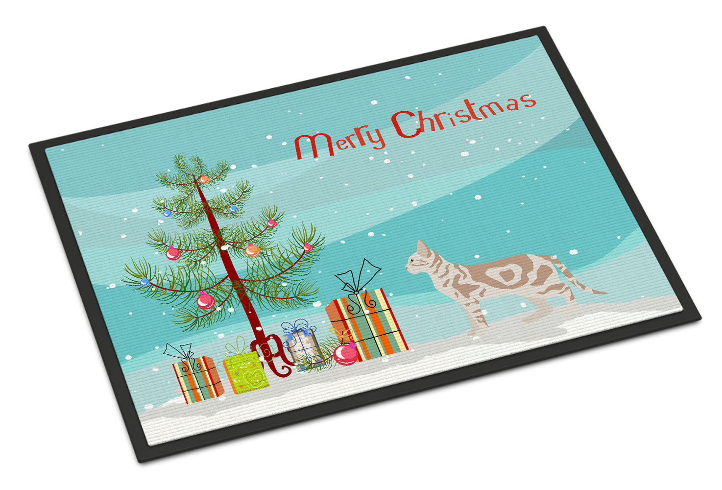 Sokoke #2 Cat Merry Christmas Indoor or Outdoor Mat 18x27 CK4721MAT by Caroline's Treasures