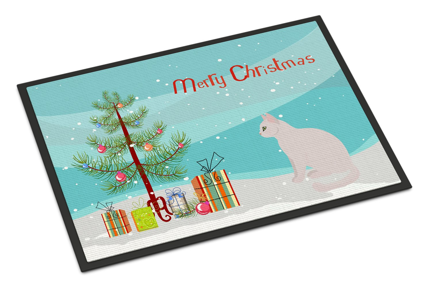 Burmilla #2 Cat Merry Christmas Indoor or Outdoor Mat 24x36 CK4756JMAT by Caroline's Treasures