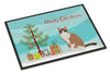 Snowshoe #2 Cat Merry Christmas Indoor or Outdoor Mat 18x27 CK4798MAT by Caroline's Treasures