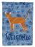 Buy this Red Abyssinian Cat Welcome Flag Garden Size CK4811GF