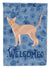 Buy this Fawn Abyssinian Cat Welcome Flag Garden Size CK4812GF