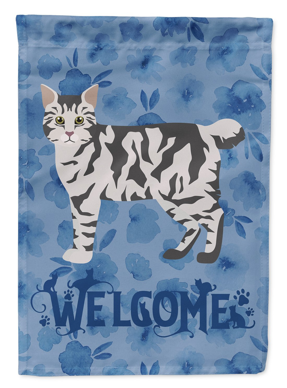 American Bobtail #1 Cat Welcome Flag Garden Size CK4816GF by Caroline's Treasures