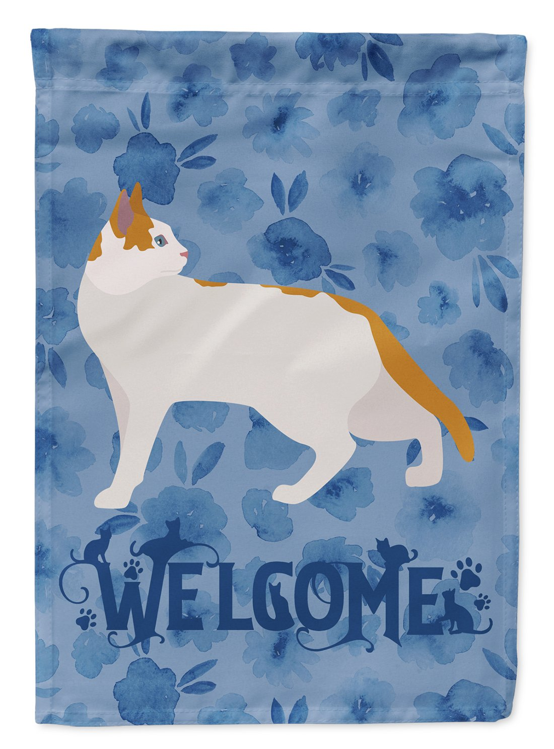 Arabian Mau Cat Welcome Flag Garden Size CK4826GF by Caroline's Treasures