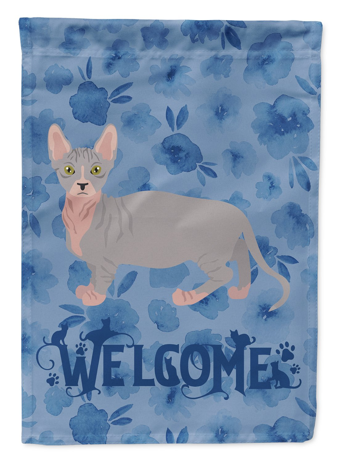 Bambino #1 Cat Welcome Flag Garden Size CK4832GF by Caroline's Treasures